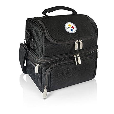NFL Pittsburgh Steelers Digital Print Pranzo Personal Cooler, One Size, Black - Pittsburgh Steelers Logo Nylon