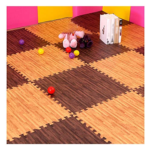 JRDDP Interlocking EVA Flooring Mats Thick Slip Children Climbing Mats For Home Single Piece Size 60x60x1.2cm (Color : B…