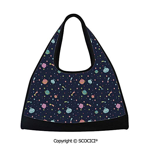 - Table tennis bag,Alien Planets with and Polka Dots Galaxy Heavenly Bodies Asteroid,Multi Functional Bag (18.5x6.7x20 in) Multicolor