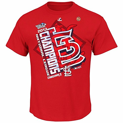 (Majestic St Louis Cardinals MLB Youth's Red 2013 World Series NL Champions T-Shirt (L))