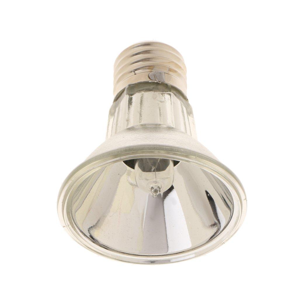MagiDeal E27 220V Rettile Alogeno Spotlight Spettro Completo UVA UVB Luce Lampade Riscaldamento - Argento, 75W