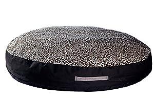 B00NLQYCA4TBY GoodDogBeds Cuddle Fabric Round Dog Bed, 36-Inch, Cheetah