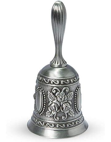 Womdee Campanilla de Mano para Mujer, Alarma de Llamada, diseño Antiguo, aleación de