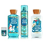 Bath & Body Works ~ Signature Collection ~ Winter 2016 ~ Frosted Coconut Snowball ~ Shower Gel - Fine Fragrance Mist- Body Lotion & PocketBac Sanitizing Hand Gel & PocketBac holder - Gift Bundle