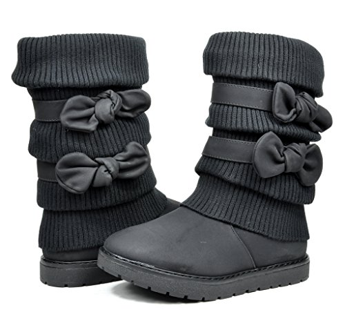 DREAM PAIRS Girls Toddler/Little Kid/Big Kid Faux Fur Lined Mid Calf Winter Snow Boots - stylishcombatboots.com