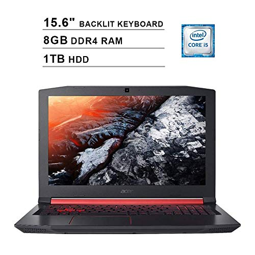 2019 Acer Nitro 5 AN515 15.6 Inch FHD Gaming Laptop (Intel Quad Core i5-8300H up to 4.0 GHz, 8GB DDR4 RAM, 1TB HDD, NVIDIA GeForce GTX 1050 Ti, Backlit Keyboard, Windows 10) (Shale Black) (Laptop Acer 1tb I5)