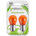 IgnitionLine 581 Amber Orange 12V 21W PY21W Halogen Bayonet Indicator Signal Off Set Pins Car Bulbs BAU15S (Pack of 2)