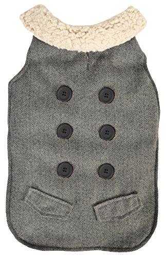 Woolrich Dog - Woolrich Jacket, Herringbone, Large, Grey/Cream