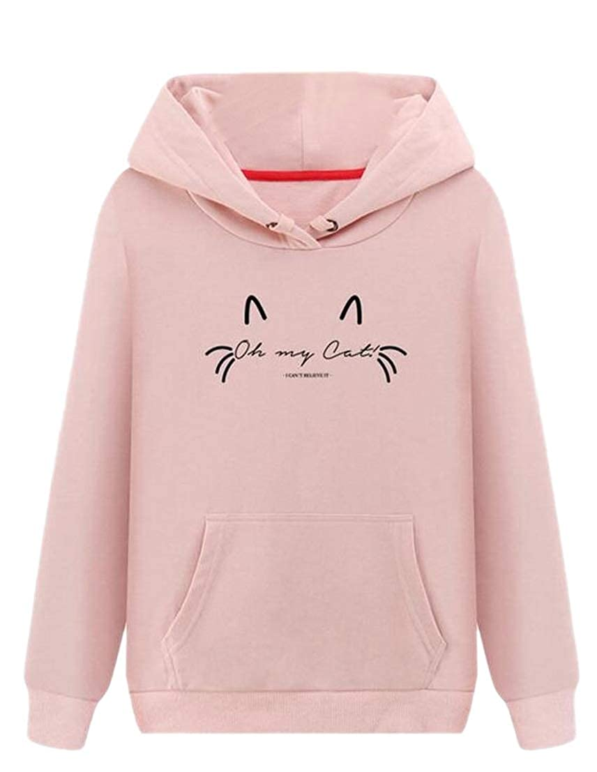 GenericWomen Casual Cat Print Long Sleeve Top Hoodies Sweatshirts
