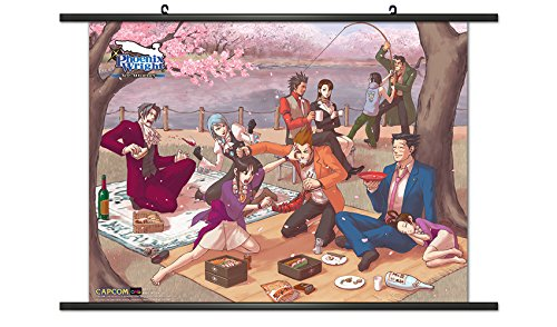 (CWS Media Group Officially Licensed Ace Attorney Game Wall Scroll Poster 32 x 22 Inches)