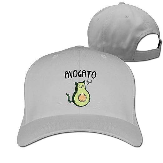 d90f19b7e8f Baseball Caps Avocado Cat Golf Dad Hat Mens Womens Vintage Snapbacks Hats  Black at Amazon Women s Clothing store