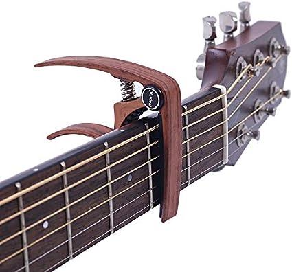 Cejilla para guitarra acústica clásica de 6 cuerdas, con ...