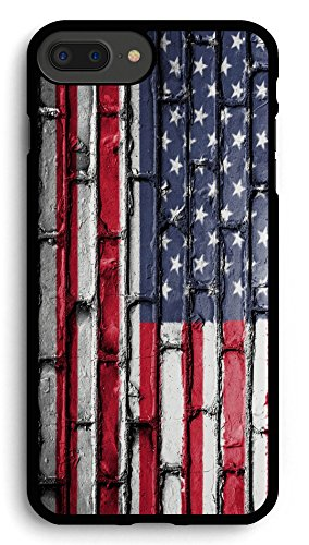 American Flag and Wall iPhone 7PLUS /8 Plus Case,PC Hard Case for iPhone 7PLUS /8 Plus
