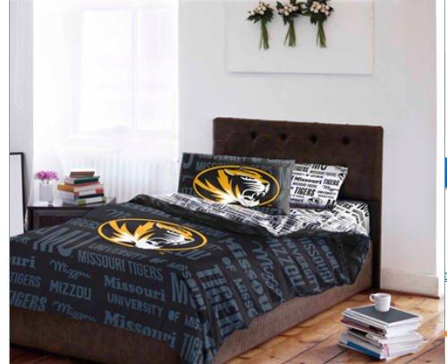 Missouri MU Tigers Queen Comforter & Sheets (5 Piece NCAA Bedding) - Ncaa 5 Piece Queen Comforter