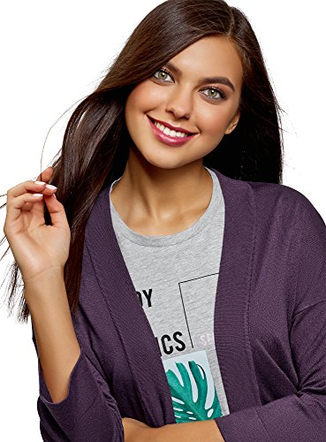 8801n Viola Cardigan con Tasche Aperto Collection Donna oodji Oqp8CUqH
