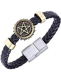Anime Black Butler Bracelet - Ciel Eye Weave - Pentagram - Men Women Unisex - Punk - Anime - Steampunk - Pagan - Celtic- BB