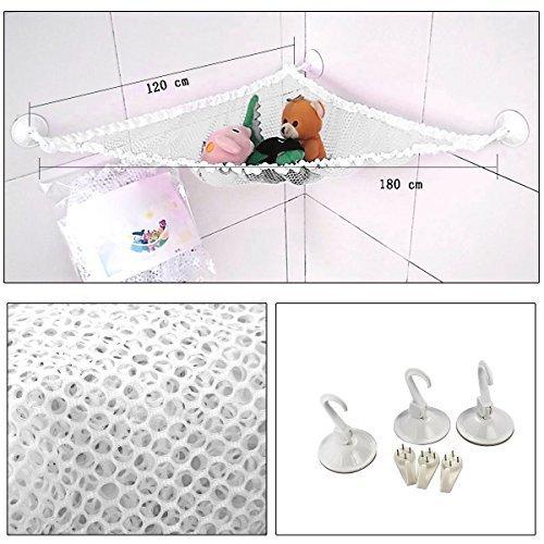 Hooker Bathroom Furniture (Xcellent Global Set of 2 Kids Bath Toys Organizer Storage + 6 Bonus Strong Hooks + 6 Strong Hooked Suction Cups, White M-HG073W)