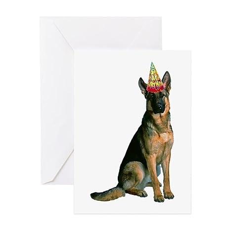Amazon cafepress german shepherd birthday invitations cafepress german shepherd birthday invitations greeting card note card birthday card m4hsunfo