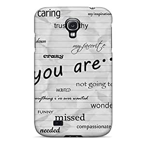 Galaxy S4 Hard Back With Bumper Silicone Gel Tpu Case Cover Words