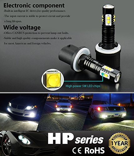 JDM-ASTAR-Extremely-Bright-Max-50W-High-Power-881-LED-Fog-Light-Bulbs-for-DRL-or-Fog-Lights-Xenon-White