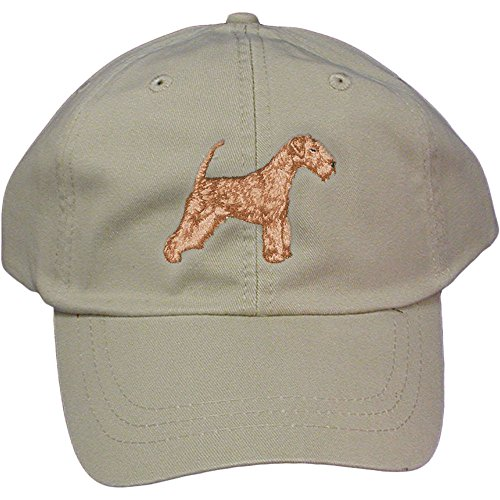 Cherrybrook Dog Breed Embroidered Adams Cotton Twill Caps - Stone - Lakeland Terrier