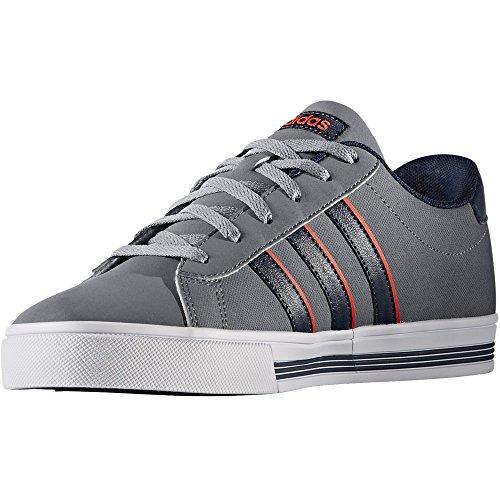 adidas DAILY TEAM - Zapatillas deportivas para Hombre, Gris - (GRIS/MARUNI/ROJSOL) 44 2/3