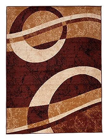 Teppich Wohnzimmer Braun Modern S-XXL Kurzflor 120x170 160x230 200x300 300x400