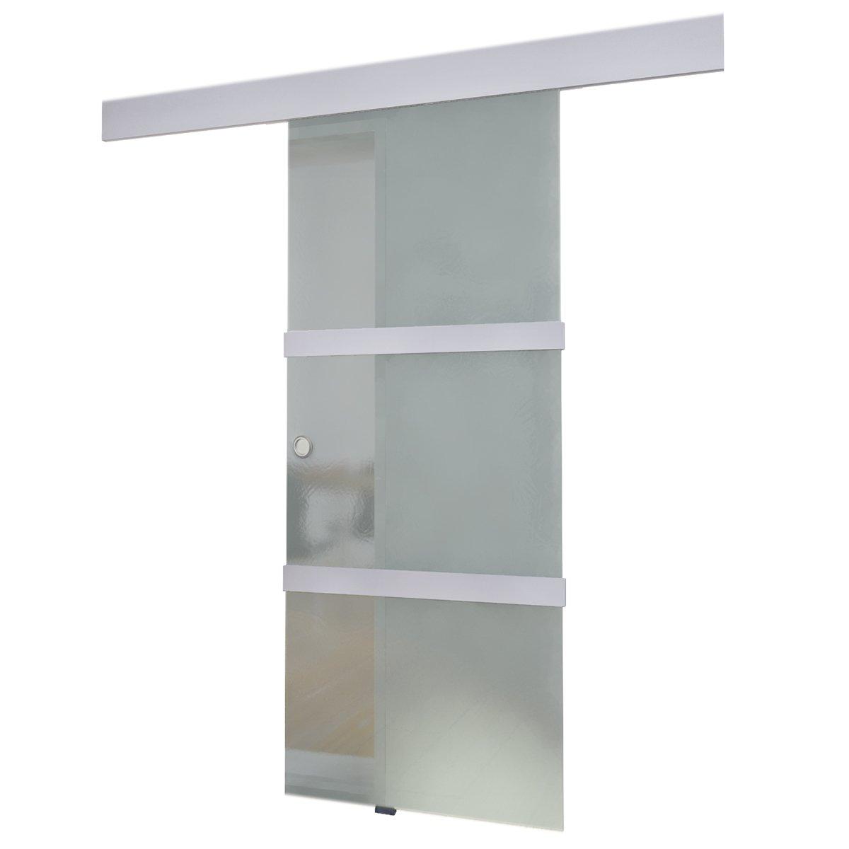 Tür glas  Schiebetür aus Glas 2050 x 750 mm: Amazon.de: Küche & Haushalt