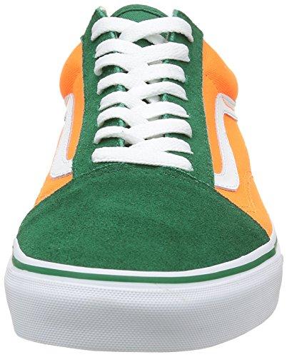 Vans Old Skool Brite Mujer 8.5 / Hombres 7 Verdant Verde / Neon Orange Skate Zapatos