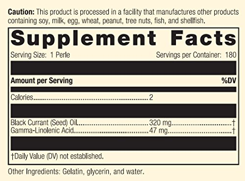 Standard Process - Black Currant Seed Oil - Gamma-Linoleic Acid Supplement, Supports Healthy Skin, Normal Blood Flow, Tissue Repair, and Immune System Function, Gluten Free - 180 Perles by Standard Process (Image #3)