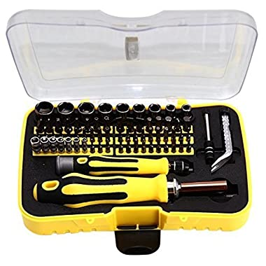 Kingsmith Screwdriver Set, 6092C 70-piece Magnetic Driver Kit, Insulated Screwdriver Set Cell Phone, Tablet, PC, Macbook, Electronics Repair Tool Kit
