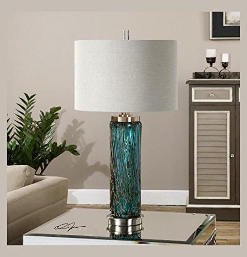 Wholesale Spun Glass - Uttermost Almanzora Blue Glass Lamp