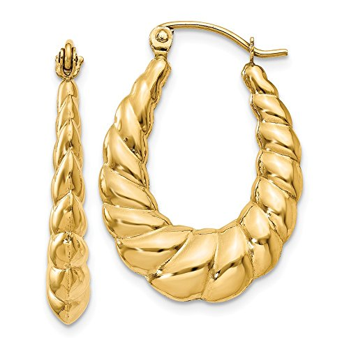 14K Yellow Gold Earring...