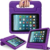 Surom Kids Case for All-New Amazon Fire 7 2017,ShockProof Case Light Weight Case Protection Cover Handle Stand for Children for Fire 7 inch Display Tablet (7th Generation - 2017 Release),Purple