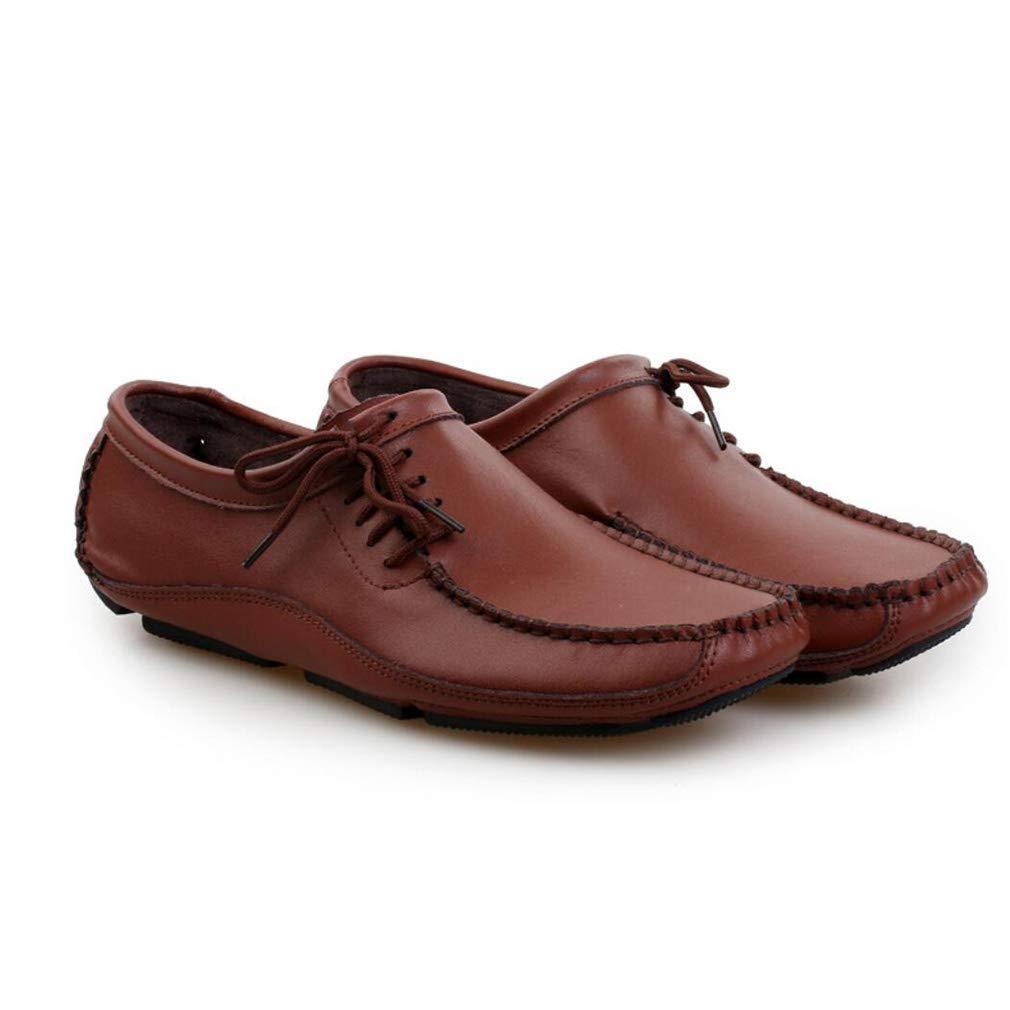 Herrenschuhe Leder Sommer   Herbst Komfort Schuhe, Loafers & Slip-Ons Atmungsaktive Freizeitschuhe, Fashion Peas Schuhe, Komfort Faule Fahr Schuhe (Farbe   C, Größe   44) 8af377