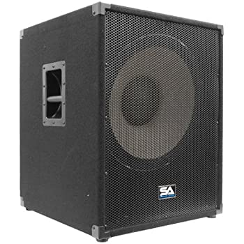 "Seismic Audio - Enforcer II PW - Powered PA 18"" Subwoofer Speaker Cabinet"