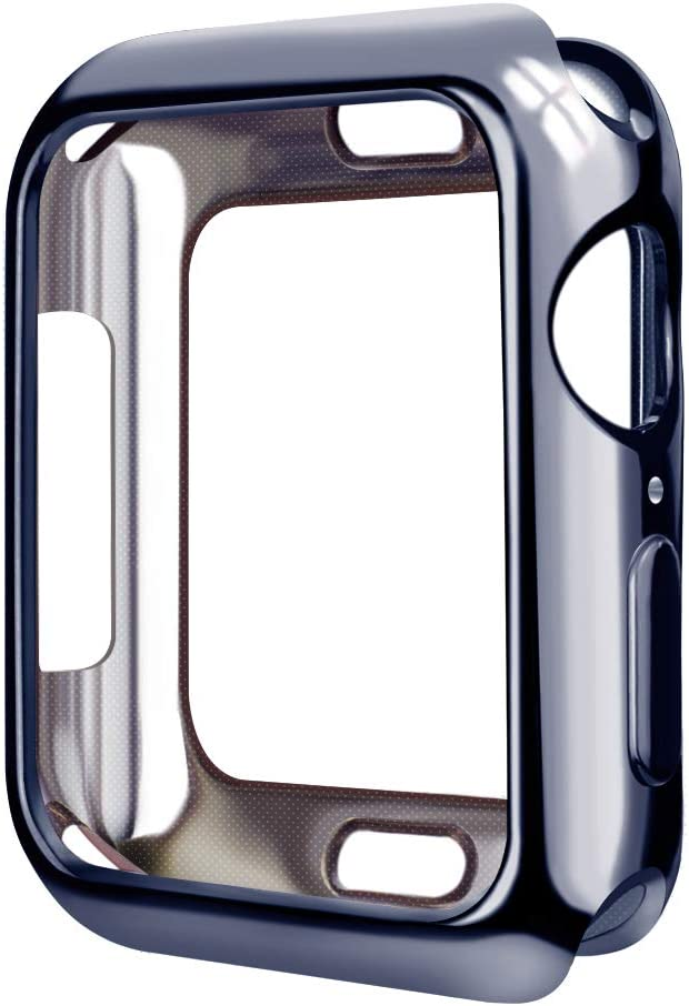 SMEECO Apple Watch Case for iWatch Series 4 44mm Only Apple Watch Cover with Flexible Soft Lightweight TPU Protector Shock Proof Protective - (Shiny Space Gray)
