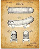 Wienermobile - 11x14 Unframed Patent Print - Makes a Great Gift Under $15 for Funky Decor
