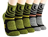 Yonovo Fabric Men's 5 Pack Quick Dry Performance Athletic Socks Shoe Size 7-10