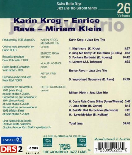 Feat. Karin Krog Enrico Rava & Miriam Klein