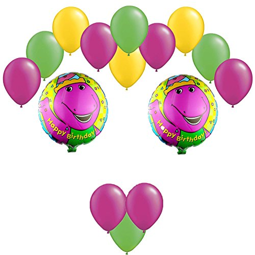Barney & Friends Birthday Balloons Bouquet