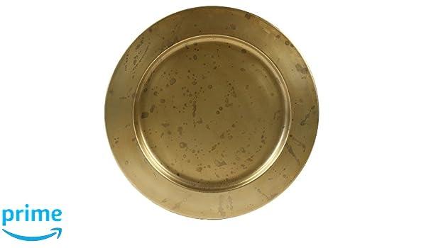 Amazon.com  Koyal Wholesale Aged Gold Brass Bulk Metal Charger Plates 6739b3036