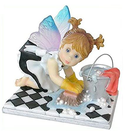 My Little Kitchen Fairies From Enesco Little Scrubber Fairie Figurine 3.75  IN