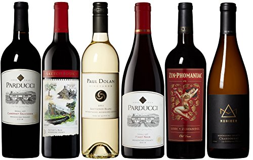 Mendocino Wine Company California Red and White Wine Mixed Pack, 6 X 750 mL