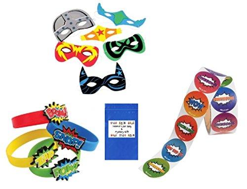Superhero Party Favor Bundle Set (125 Pieces)