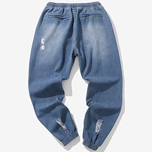 ALIKEEY Vaqueros Otoño Trabajo Vintage ón Colada es es Azul La Los es para Ocasionales ón Dril Mezclilla Hombres del rFraqw1T0