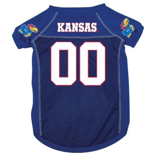 Kansas University Jayhawks Pet Dog Football Jersey XL