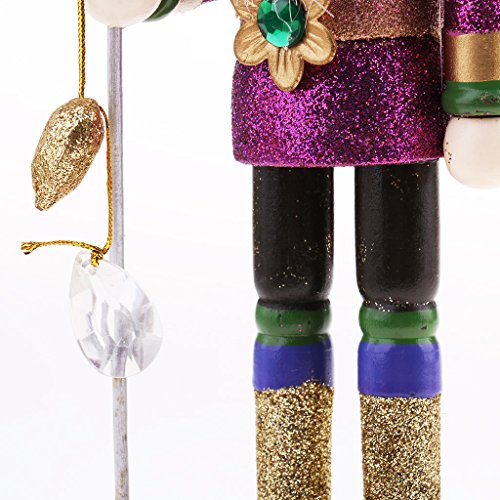 MagiDeal Vintage 30cm Wood Glittery Nutcracker Soldier Figures Figurine Home Desktop Ornaments Children Xmas Birthday Gift Rosy by MagiDeal (Image #7)