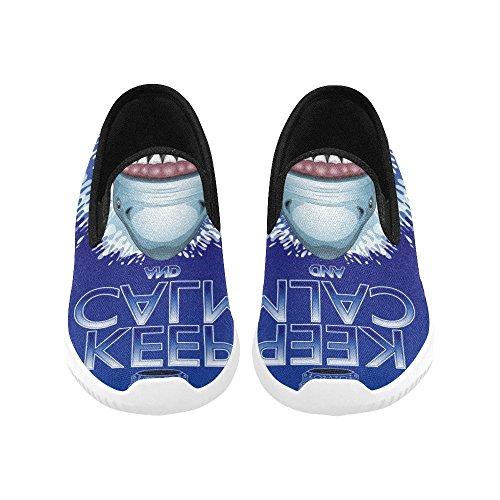 Las Zapatillas De Deporte Con Cordones De Interestprint Whale Para Mujer Shark Keep Calm