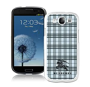 Galaxy S3 Case,Burberry 2 White Samsung Galaxy S3 I9300 Screen Phone Case Fashion and Grace Design